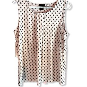 Ann Taylor dressy sleeveless shirt Sz M